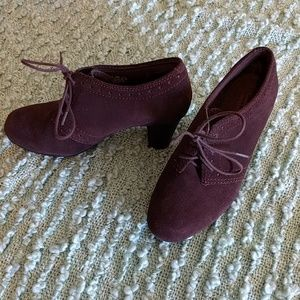 Clarks Brown Suede Booties